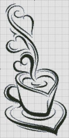 Схемы чай и кофе / Схемы вышивки крестиком / PassionForum - мастер-классы по рукоделию: