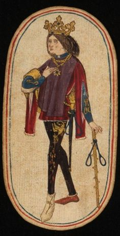 King (1), from the Cloisters set of fifty-two playing cards, ca. 1470–1485, South Netherlandish.