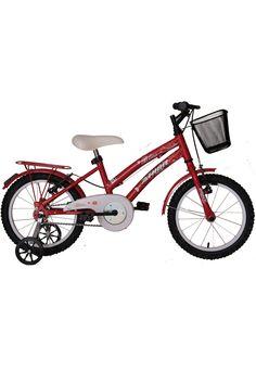 3f613550b Bicicleta Aro 16 Bliss Feminina com Cestão Vermelha Athor Bikes