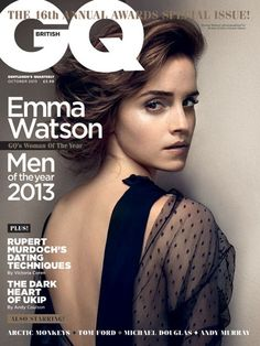Emma Watson Cover & Interview - GQ Woman Of The Year 2013 - GQ.COM (UK)