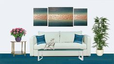 Painting on canvasabstract painting contemporary art blue