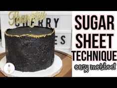 Today I am showing you how I mastered the sugar sheet technique, this is an easier alternative to a few of the methods out there. Sugar Sheets, Dessert Decoration, Decorations, Cherry Cake, Cake Youtube, New Cake, Cake Trends, Sugar Flowers, Cake Decorating