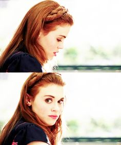 Lydia Martin Hairstyles - Hair band braid/Halo braid (hair not long enough