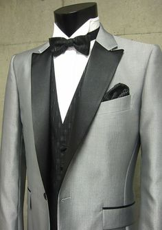 2013 New Fashion Short Tuxedos 100% Wool sliver Wedding / Prom Suit for men 4 Pieces set one button(jacket+pants+tie+waistcoat) on Suzhou Itailor wedding Ltd. $159.00