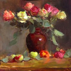 """Morning Market Roses"" by Patrica Nebbeling"