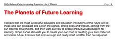 Gilly Salmon EduTech paper, 2014. 'Future Learning Scenarios: the 4 Planets'.