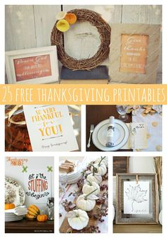 25 Fabulously Free Thanksgiving Printables - Pretty My Party - Party Ideas