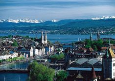 Zurich - It's no surprise to find Zurich on our list as most Swiss banks are headquartered in this city. Beyond being the financial heart of Switzerland, Zurich is the largest centre for gold trading globally. Top Places To Travel, Cool Places To Visit, Budapest, Switzerland Tourism, Alps Switzerland, Lake Zurich, Sustainable City, Belle Villa, European Countries