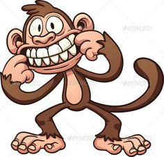 Cartoon Monkey - Animals Characters
