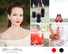 50s wedding inspiration board | rockabilly wedding