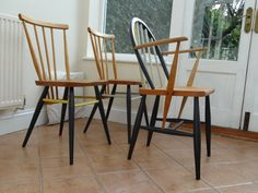 Restored and painted Ercol chairs by RestoredbyLiat on Etsy, £135.00