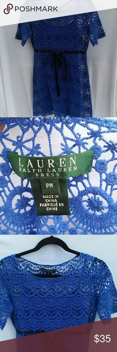 Ralph Lauren blue dress Ralph Lauren blue dress size PM. Offers always welcomed! Thanks :-) Ralph Lauren Dresses