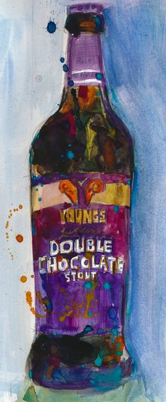 Young's Double Chocalate Stout Beer Art Print from by dfrdesign