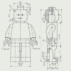 Lego Minifigure technical drawing | illustration