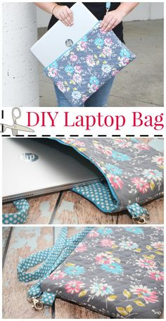 Get ready for back-to-school with this easy DIY Laptop Bag craft! Your student will love carrying around this stylish bag. Create this project in time for them to go back to school. More
