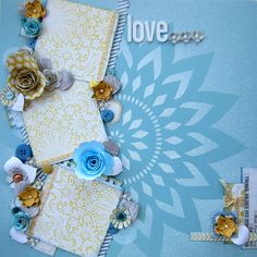 My Mind's Eye - Love LO for DT Scrapbook Island, via Flickr.