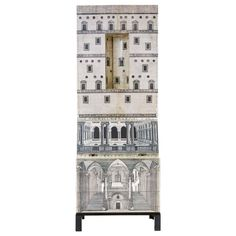 """Architettura"" Cabinet by Piero Fornasetti, Italy, 1960s 