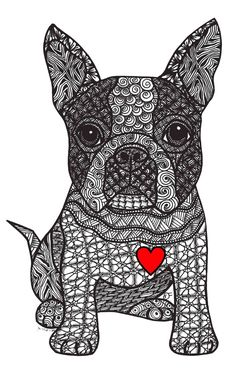 Friend - Boston Terrier Art Print