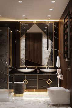 architecture bathroom home decor ideas 1 Washroom Design, Bathroom Design Luxury, Modern Bathroom Design, Luxury Bathrooms, Small Bathrooms, Wc Design, Toilet Design, Custom Design, Design Ideas
