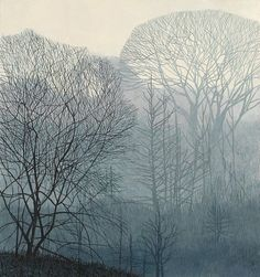 The Valley in the Mist by Annie Ovenden (England 1975) Oil on Paper (Private Collection) The Brotherhood of Ruralists