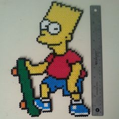 Bart Simpson perler beads by boomboom_vw20th