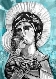 Claudia Talavera Catholic Art, Religious Art, Mama Mary, Divine Mother, Spirited Art, Madonna And Child, Naive Art, Blessed Mother, Sacred Art