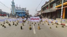 Unmanned Strike in Hakha Location: Hakha, Chin State #whatshappeninginmyanmar #savemyanmar #peacefulprotest #genzprotest #smartprotest #threefingersalute #hearthevoicesofmyanmar #massiveprotest Peaceful Protest, Ares, The Voice, Street View, Shit Happens