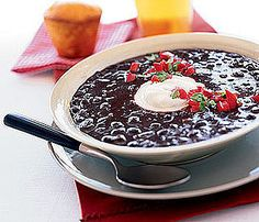Chipotle Black Bean Soup: Serve chipotle black bean soup alongside cheesy quesadillas or with chips and salsa for a Mexican-inspired Fall feast.