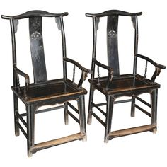 Pair of Yoke Back Elm Chairs   From a unique collection of antique and modern chairs at https://www.1stdibs.com/furniture/seating/chairs/