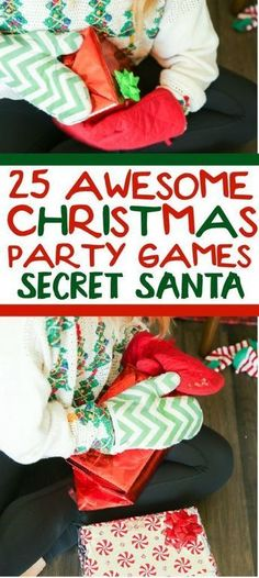 25 funny Christmas party games that are great for adults, for groups, for teens, and even for kids! Try them at the office for a work party, at school for a class party, or even at an ugly sweater party! I can�t wait to try these for family night this Chr