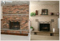 FANTASTIC! CHECK this out! Painting Your Fireplace: 3 Ideas so simple even your kids could do it. http://www.brick-anew.com