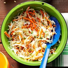 Coleslaw with Poppy Seed Dressing Recipe -This is the kind of salad you can keep in the fridge for a couple days and it just gets better. I just add the sunflower seeds before serving to keep the crunch. —Trisha Kruse, Eagle, Idaho