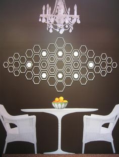 technique tip geometric shape modern wall decorbrown - Decorative Wall Designs