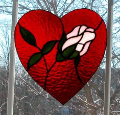 Stained Glass Rose Heart / www.cjboyette.com