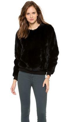 Theyskens' Theory Binga Fur Sweater http://www.shopbop.com/welcome?invitation_code=4242222FHUS