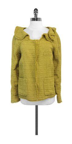 Marni Olive Green Silk Blend Jacket