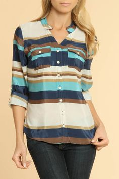 Coupe Striped Blouse
