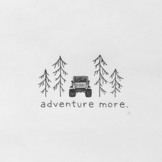 The best part of our days are spent enjoying what we love. Where is your next ad… The best part of our days are spent enjoying what we love. Where is your next adventure? Doodle Drawings, Easy Drawings, Doodle Art, Flower Drawings, Jeep Drawing, Line Art, Jeep Tattoo, Simple Art, Keep It Simple