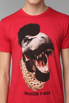 Mister T-Rex Tee #urbanoutfitters IDC if it's for guys but this Tee is sooooo cool!