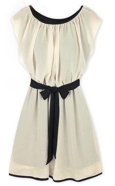 Vestido gasa con cinturón-€23.96