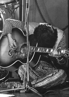 """Keith Richards at The Rolling Stones Rock N' Roll Circus, December 10th 1968. """"One of the great things about songwrighting; it's not an intellectual experience"""" ― Keith Richards. [Life Book.] ❤ #KeithRichards #StonesIsm #PattiHansen #MickJagger #CharlieWatts #RonWood #Rock #Legend #Quote #Life #Book"""