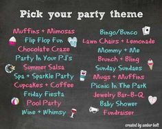 Pick a theme for your party!