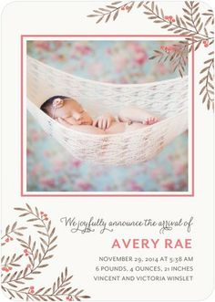 """""""Enchanting Arrival"""" captures your newborn surrounded by strawberry pink details."""