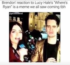 "I watched this and DIED his face was the best thing EVER!! He was totally drunk too. ""I need some new underwear. Mom and dad if you watching this!"" -Brendon Urie when asked what his New Years Resolution was. I don't even know anymore."