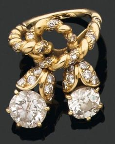 18ct gold and diamond ring by René Boivin