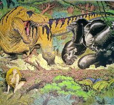 Tribute to this amazing work by Arthur Adams - King Kong vs T- Rex