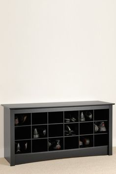 Shoe Storage Cubbie Bench - Black  by Entryway and Living Room Storage on @HauteLook $195 - like for guests putting shoes