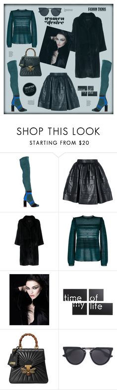 """""""Time of my life"""" by zabead ❤ liked on Polyvore featuring Pierre Hardy, Ermanno Scervino, Simonetta Ravizza, M Missoni, NARS Cosmetics, Umbra, Gucci and McQ by Alexander McQueen"""