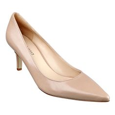 """I looked all over for a basic nude pump. I tried all price ranges. I finally found one at 9 West. """"Padded footbed for all-day comfort. Leather upper. Man-made lining and sole. Imported. 2 3/4"""" mid heels. Pointy toe mid heel pumps."""" $79.00 and often on sale. jhughes2020"""