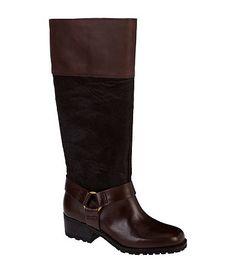 Lucky Brand Abeni Riding Boots. Available at Dillards.com #Dillards